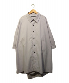 My Beautiful Landlet(マイ ビューティフル ランドレット)の古着「back layered S/S shirt」|パープル