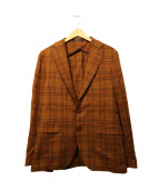TAGLIATORE(タリアトーレ)の古着「ツイードテーラードジャケット」|オレンジ