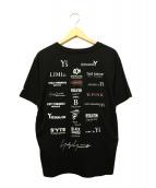 YOHJI YAMAMOTO×New Era(ヨウジヤマモト×ニューエラ)の古着「半袖コットンTシャツ」|ブラック