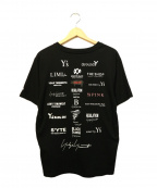 YOHJI YAMAMOTO×New Era(ヨウジヤマモト×ニューエラ)の古着「半袖コットンTシャツ」 ブラック