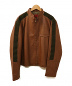 HUGO BOSS(ヒューゴ ボス)の古着「ラムレザージャケット」|ブラウン