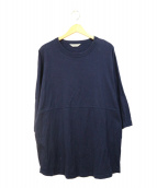 COOTIE PRODUCTIONS(クーティー プロダクツ)の古着「Football Oversized L/S Tee」|ネイビー