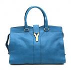 Yves Saint Laurent(イブサンローラン)の古着「カバスシックハンドバッグ」|ブルー