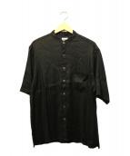 STEVEN ALAN(スティーヴンアラン)の古着「バンドカラーシャツ」|ブラック