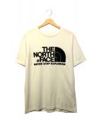 THE NORTH FACE(ザノースフェイス)の古着「フロッキーロゴTEE」|ホワイト