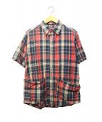 SASSAFRAS(ササフラス)の古着「2ポケットチェックシャツ」|レッド×ブルー