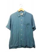 Engineered Garments(エンジニアードガーメン)の古着「半袖シャツ」 スカイブルー