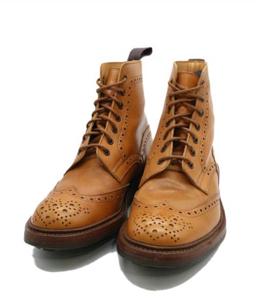 Tricker's(トリッカーズ)Tricker's (トリッカーズ) カントリーブーツ ベージュ サイズ:8 25081 MALTON モルトン モールトンの古着・服飾アイテム