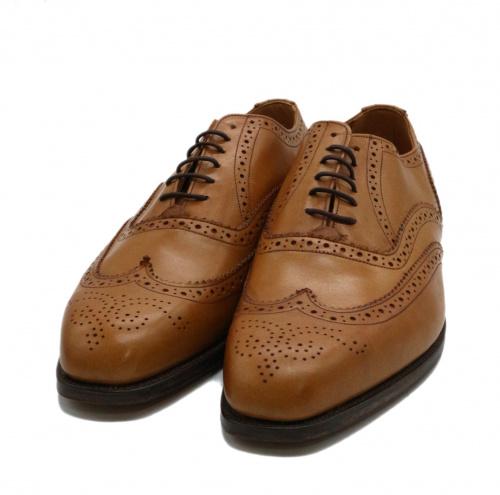 Tricker's(トリッカーズ)Tricker's (トリッカーズ) 内羽根ウィングチップシューズ ブラウン サイズ:8 1/2 6138-1の古着・服飾アイテム