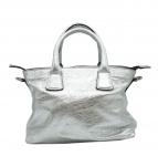 GIANNI CHIARINI(ジャンニ・キャリーニ)の古着「2WAYメタリックバッグ」|シルバー