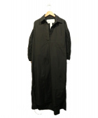 TICCA(ティッカ)の古着「レースパフスリーブワンピース」|ブラック