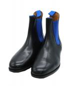 Trickers(トリッカーズ)の古着「サイドゴアシューズ」|ブラック×ブルー