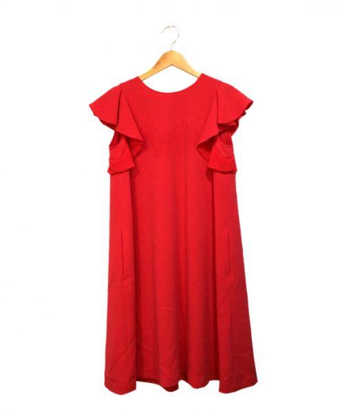 TARA JARMON(タラジャーモン)TARA JARMON (タラジャーモン) ハンカチーフスリーブワンピース ピンク サイズ:Sの古着・服飾アイテム