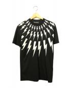 NEIL BARRETT(ニールバレット)の古着「ライトニングTシャツ」|ブラック