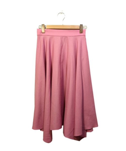 ROPE(ロペ)ROPE (ロペ) イレギュラーヘムフレアスカート ピンク サイズ:38の古着・服飾アイテム