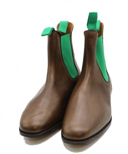 Tricker's(トリッカーズ)Tricker's (トリッカーズ) サイドゴアブーツ ブラウン×グリーン サイズ:12 M6119の古着・服飾アイテム