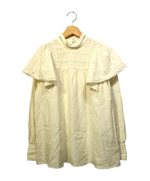 Lily Brown(リリーブラウン)Lily Brown (リリーブラウン) Crystalコットンレースブラウス ホワイト サイズ:Fの古着・服飾アイテム