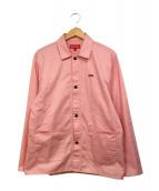 Supreme(シュプリーム)の古着「Snap Front Logos Twill Jacket」|ピンク