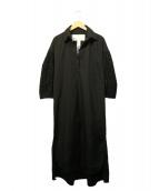 TICCA(ティッカ)の古着「コットンレースパフスリーブワンピース」|ブラック