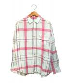 ROPE(ロペ)の古着「リトアニアリネンオーバーシャツ」|スカイブルー