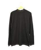 ()の古着「モックネックロゴカットソー」|ブラック