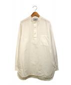 YAECA(ヤエカ)の古着「Stand Collar Pullover Shirt」|ホワイト