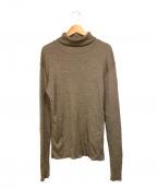 DEUXIEME CLASSE(ドゥーズィエム クラス)の古着「jerseyタートルネックニット」|ブラウン