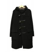BURBERRY BLACK LABEL(バーバリーブラックレーベル)の古着「ロングダッフルコート」 ブラック