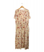 自由区(ジユウク)の古着「フラワーペイズリープリントドレス」|ホワイト