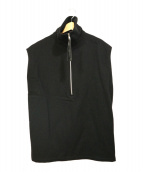 YOHJI YAMAMOYO(ヨウジ ヤマモト)の古着「ハーフジップベスト」|ブラック