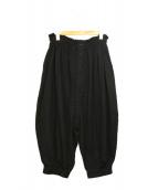 LIMI feu(リミフゥ)の古着「フロントボタンバルーンパンツ」|ブラック