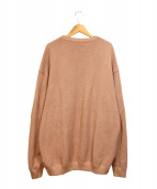 crepuscule(クレプスキュール)の古着「MOSS STITCH L/S SWEAT」|ピンク