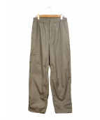 Graphpaper(グラフペーパー)の古着「Garment dyed poplin pants」|グレー