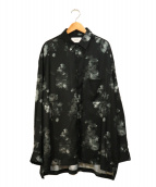 STUDIOUS(ステュディオス)の古着「ダークフラワービックシルエットシャツ」|ブラック