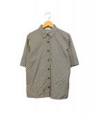 ()の古着「チェックシャツ」 ホワイト×ブラック