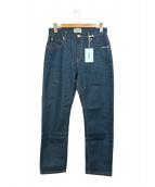SERGE de bleu(サージ)の古着「ボーイフレンドデニムパンツ」|インディゴ