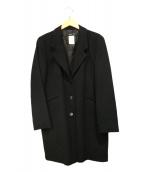 agnes b.(アニエスベー)の古着「ウールカシミヤチェスターコート」 ブラック
