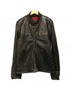 BLUE WORK(ブルーワーク)の古着「ラムレザージャケット」 ブラック