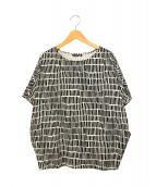 marimekko(マリメッコ)の古着「総柄カットソー」 ブラック