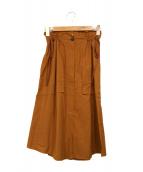 tela(テラ)の古着「ドロストフレアスカート」 ブラウン
