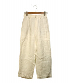 CellarDoor(セラドール)の古着「リネンワイドパンツ」|ホワイト