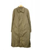 SCHNEIDERS(シュナイダー)の古着「ナイロンステンカラーコート」|ベージュ