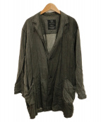 Ys(ワイズ)の古着「リネンシャツジャケット」 グレー