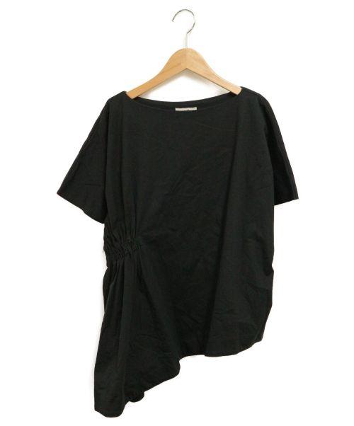 CLANE(クラネ)CLANE (クラネ) サイドギャザードルマンスリーブトップス ブラック サイズ:SIZE1の古着・服飾アイテム