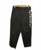 YOHJI YAMAMOTO(ヨウジヤマモト)の古着「刺繍テーパードパンツ」|ブラック