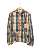 Engineered Garments(エンジニアドガーメンツ)の古着「チェックシャツジャケット」|ネイビー×ベージュ