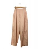 TARO HORIUCHI(タロウホリウチ)の古着「タックパンツ」|ピンク