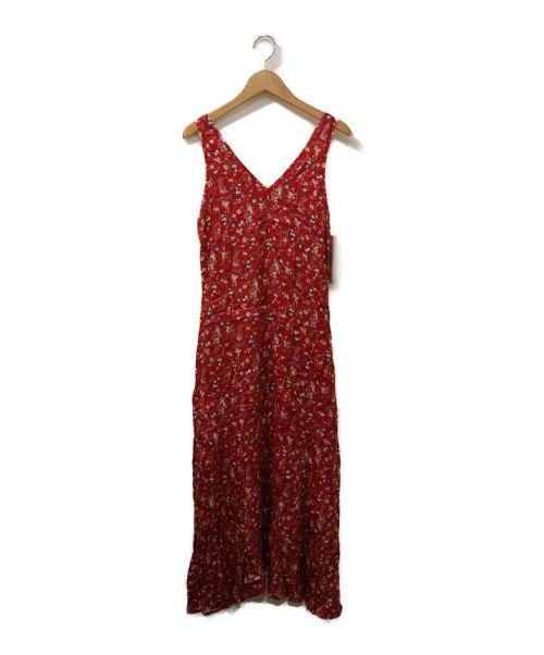 FRAY ID(フレイアイディー)FRAY ID (フレイアイディー) IPEKERプリントサテンナローワンピース レッド 未使用品の古着・服飾アイテム