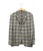 ()の古着「シルクリネンテーラードジャケット」|ブルー