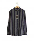 GUY ROVER(ギローバー)の古着「ネルシャツ」|グレー